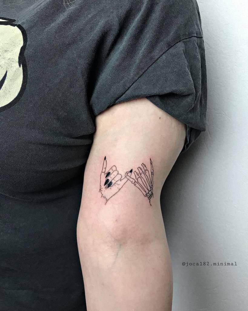 Skeleton Pinky Promise Tattoos Joca182.tattoo.ink.minimal 2