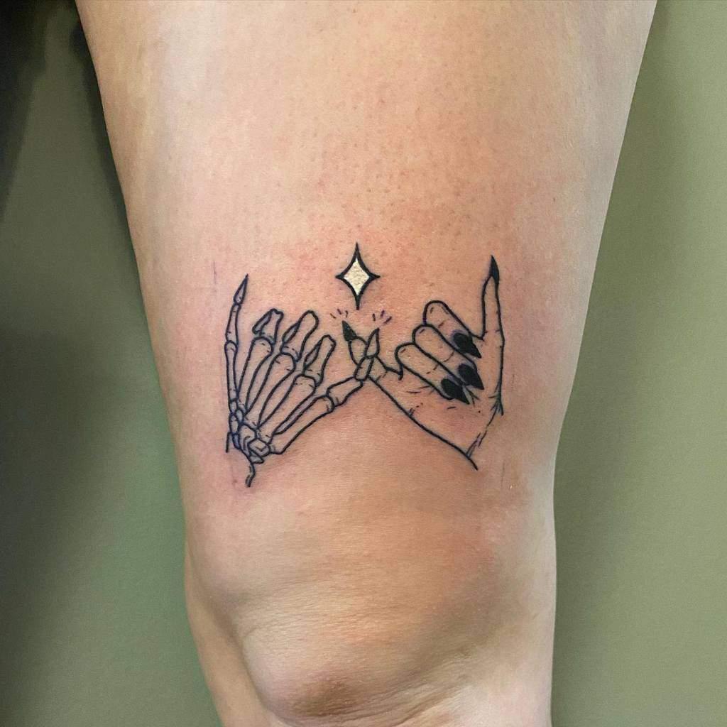 Skeleton Pinky Promise Tattoos Vladninjamonkey