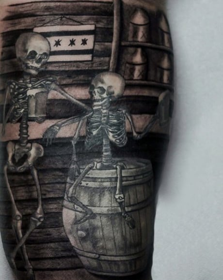 Skeleton Tattoo for Men