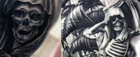 50 Skeleton Tattoos For Men – Spine-Tingling After Life Designs