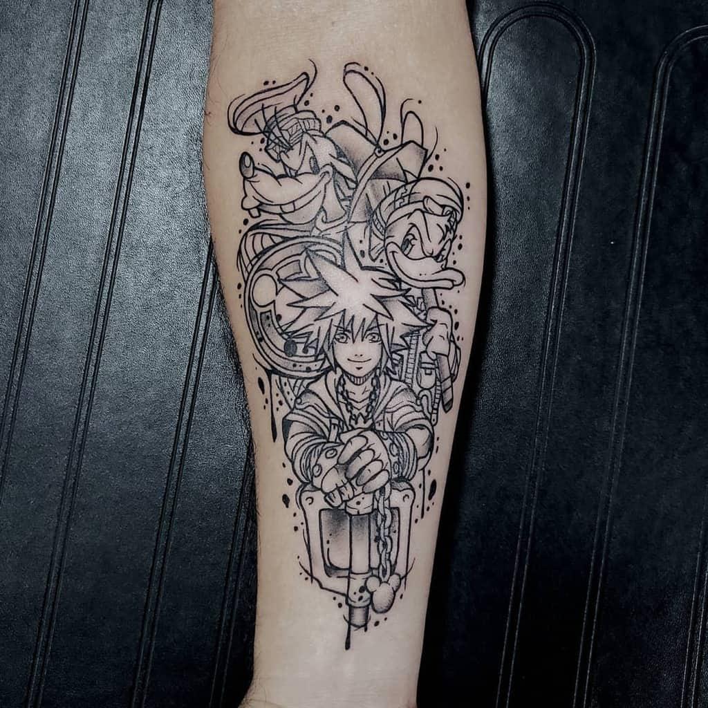 Sketch Disney Kingdom Hearts Tattoo