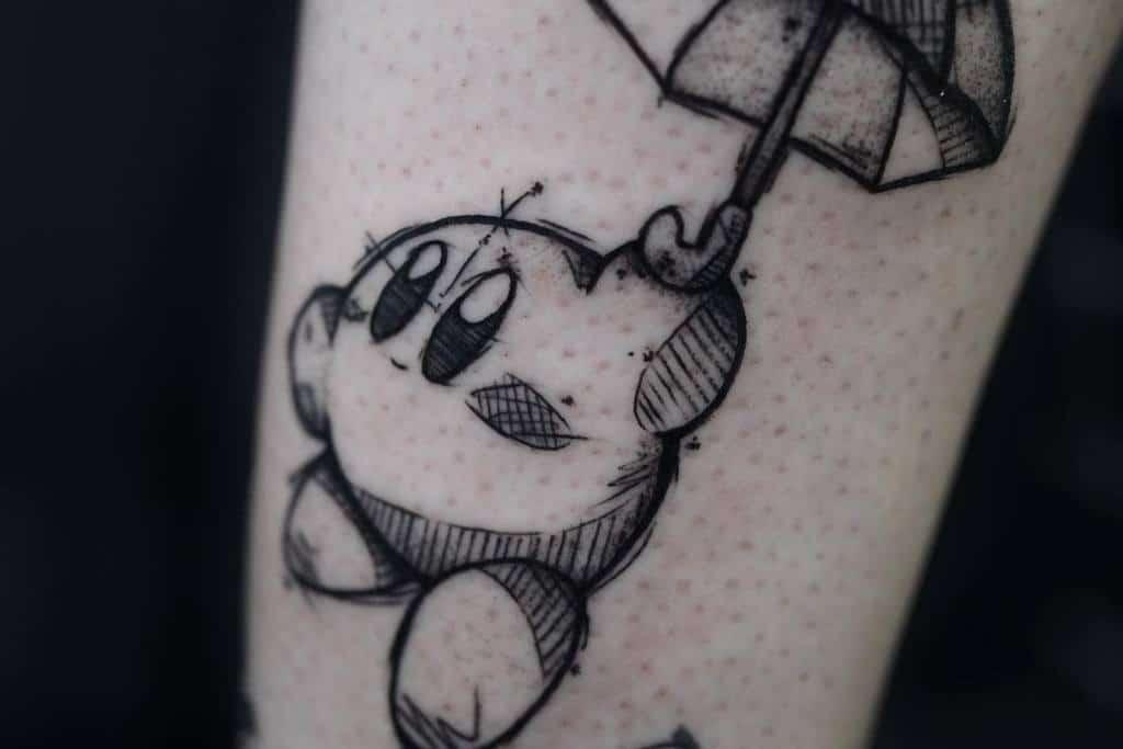 Sketch Kirby Tattoos Charlie.j.tattoo