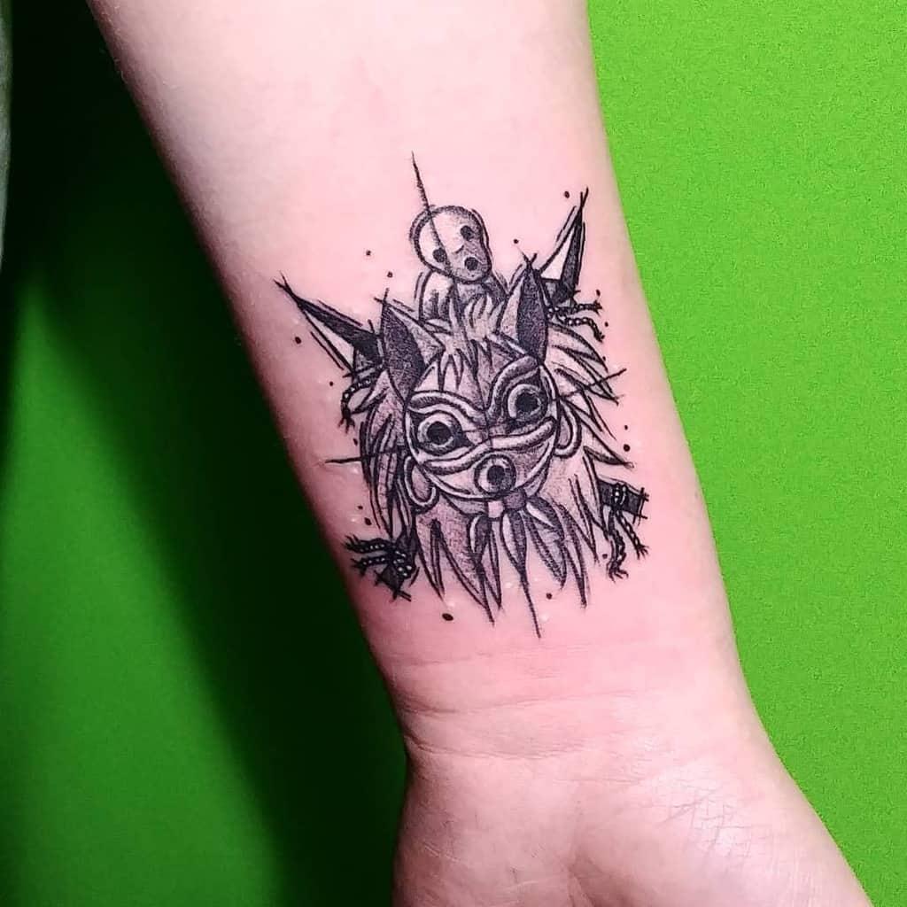 Top 53 Best Princess Mononoke Tattoo Ideas 2020 Inspiration Guide