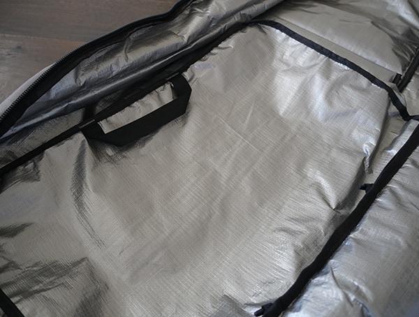 Ski Boot Bag Inside Of Dakine Fall Line Ski Roller Bag