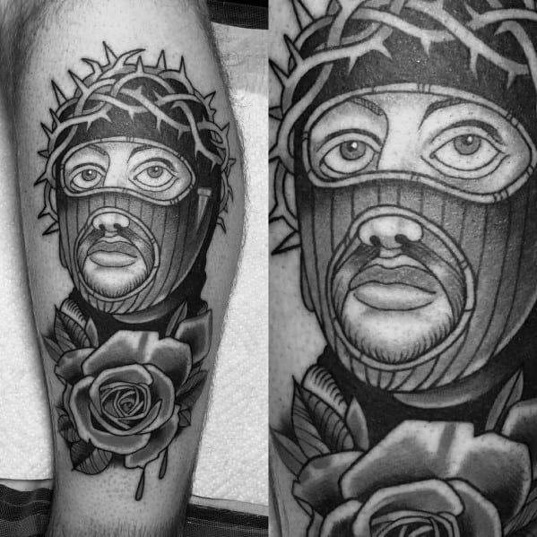 Ski Mask Mens Tattoo Designs