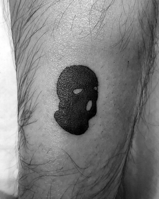 Ski Mask Tattoo Ideas For Males