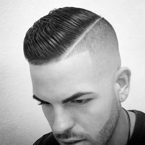 Elegant Skin Fade Comb Over Hairstyle For Men