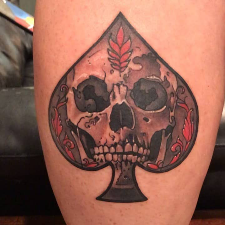 Skull Ace Of Spades Tattoo Zoidgrafx