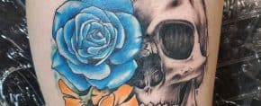 Top 81 Best Skull and Rose Tattoo Ideas  – [2020 Inspiration Guide]