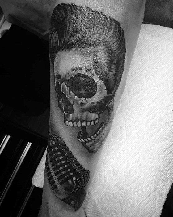 Skull Elvis Presley Guys Tattoo Ideas