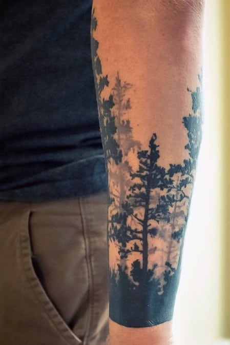 Trees Forearm Tattoos