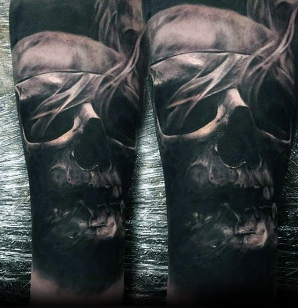 Skull Male Tattoo With Greatest Design