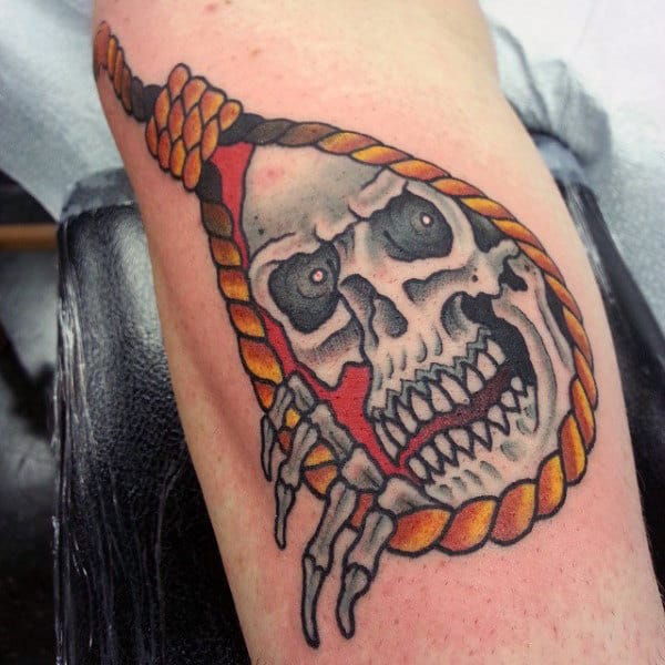 Skull Noose Mens Arm Tattoos