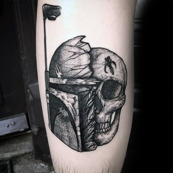 Skull Robot Leg Incredible Tattoos For Gentlemen