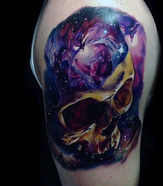 Skull Sky Tattoo Ideas For Men