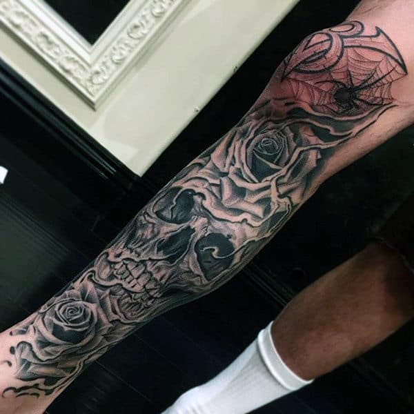 d22dcaf7d 80 Spider Web Tattoo Designs For Men - Tangled Pattern Ideas