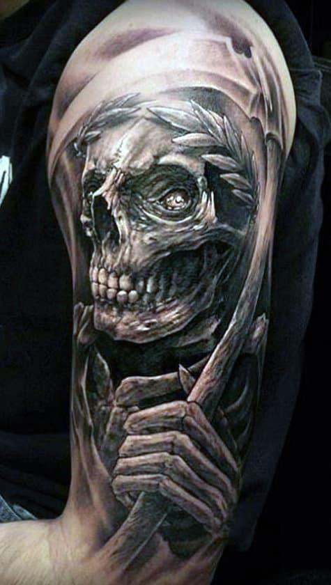 Skull Grim Reaper Tattoo Designs