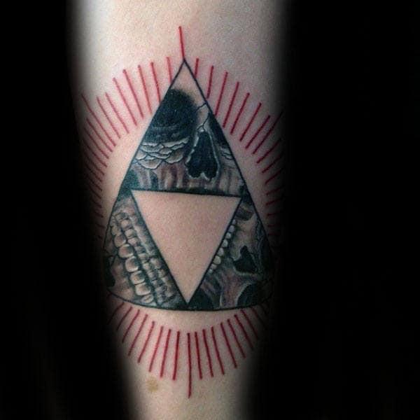 Skulls Triforce Mens Forearm Tattoos