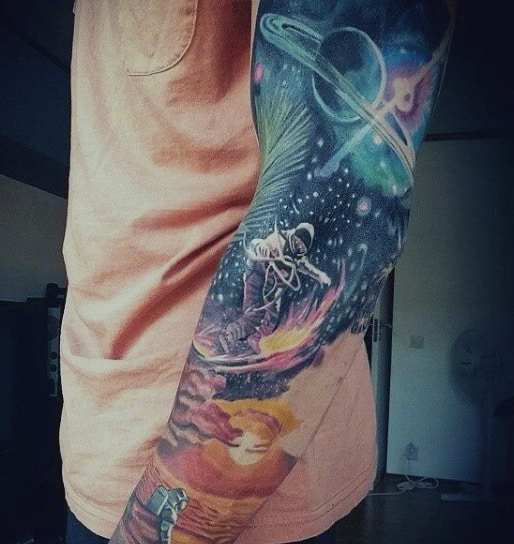 Sky Tattoo Sleeve On Men