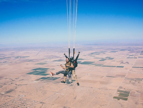 Skydiving Instructor Outdoor Job Ideas For Men
