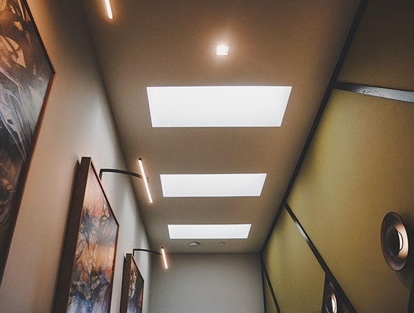 Skylights Hallway New American Home 2019