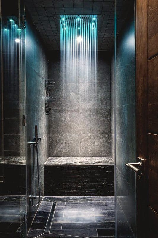 Slate Tile Modern Shower Design