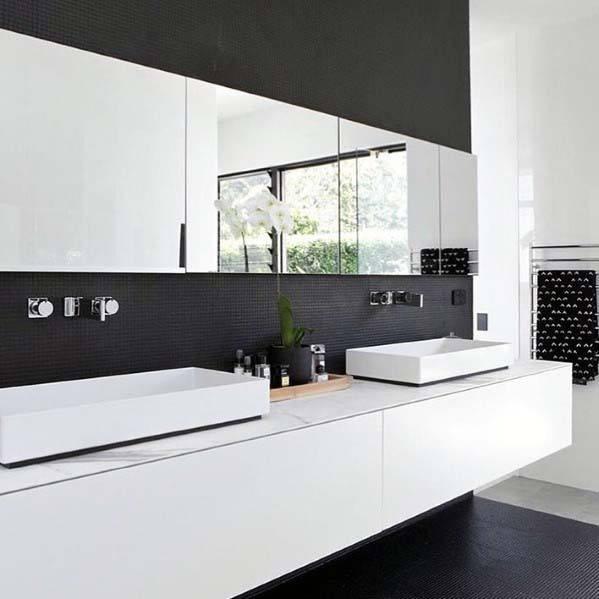 Sleek Black Bathroom Ideas