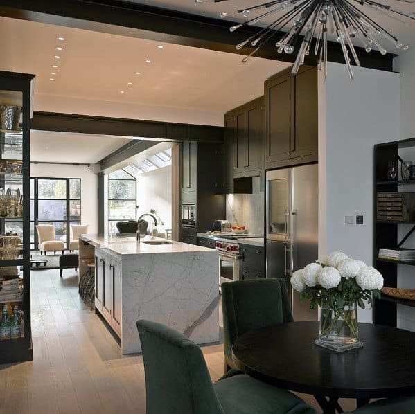 Sleek Black Kitchen Cabinet Ideas