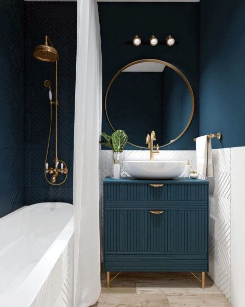 Blue Bathroom Ideas Pictures.Top 50 Best Blue Bathroom Ideas Navy Themed Interior Designs