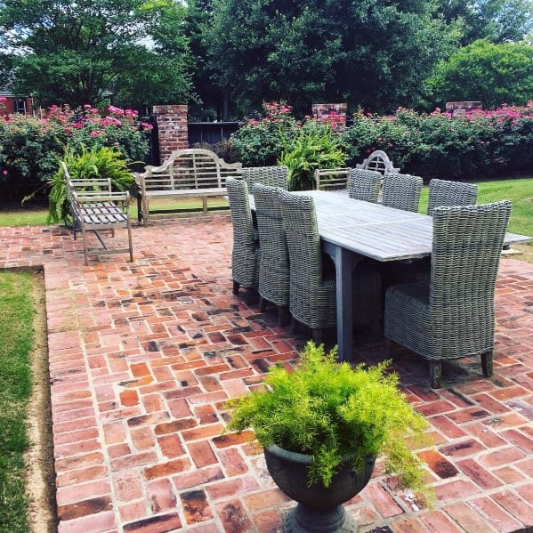 Top 50 Best Brick Patio Ideas - Home Backyard Designs on Small Backyard Brick Patio Ideas id=50175