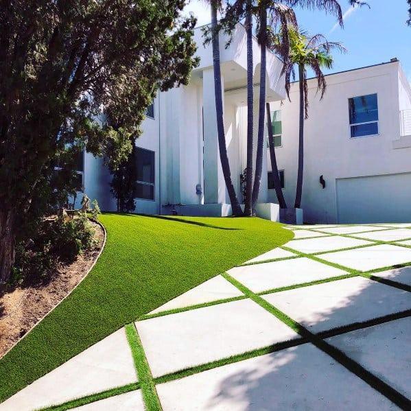 Top 50 Best Concrete Driveway Ideas - Front Yard Exterior