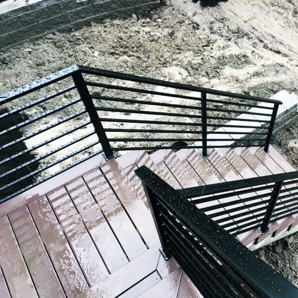 Sleek Continous Metal Deck Railing Ideas