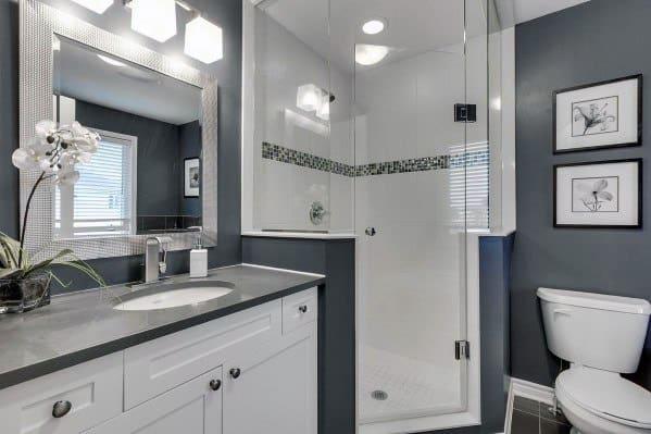 Sleek Corner Shower Ideas