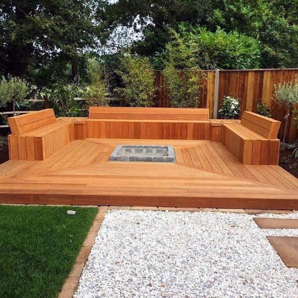 Deck Bench Seating: Top 60 Best Deck Bench Ideas