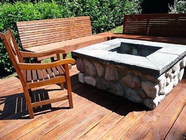 Sleek Deck Fire Pit Ideas