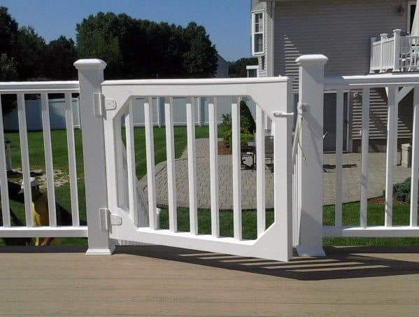 Sleek Deck Gate Ideas