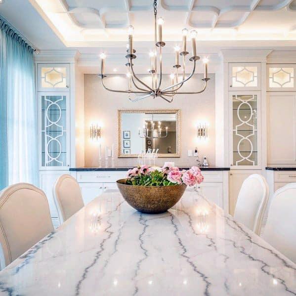 Sleek Dining Room Crown Molding White Led Ceiling Lighting Ideas