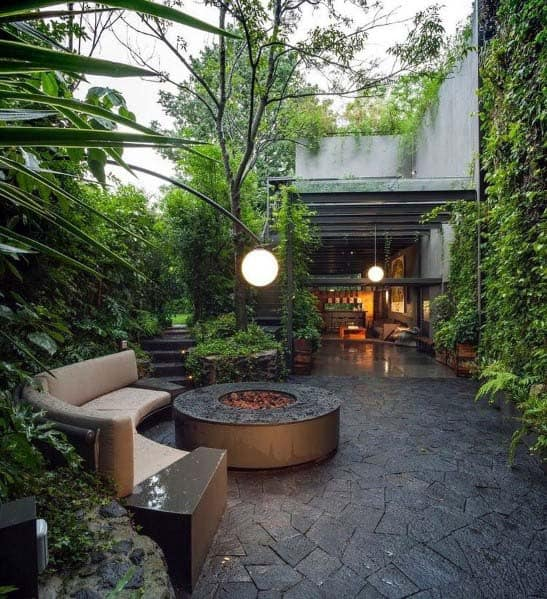 Sleek Fire Pit Landscaping Ideas