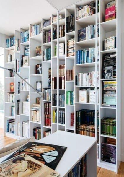 Sleek Floor To Ceiling Bookshelves Ideas