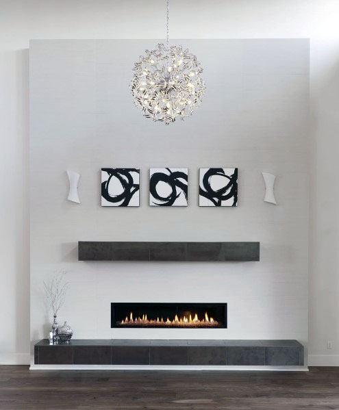 Sleek Gas Linear Fireplace Ideas