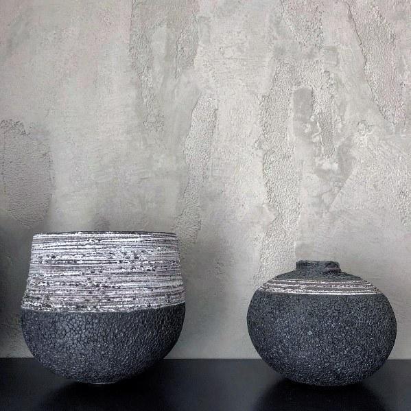 Sleek Grey Painted Textured Wall Ideas