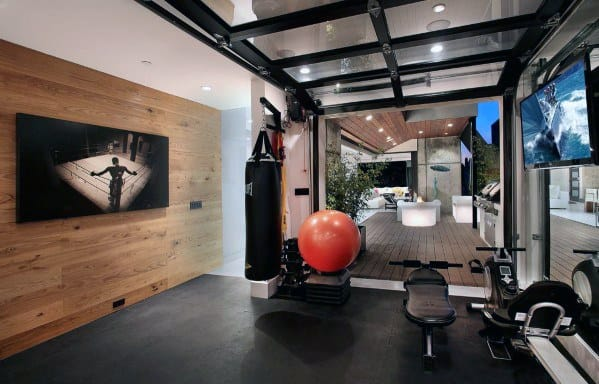 Sleek Home Gym Rubber Flooring Ideas