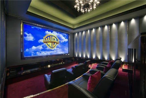 Sleek Home Theater Lighting Ideas