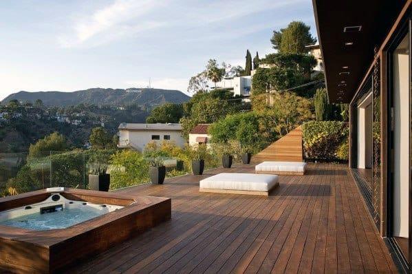 Sleek Hot Tub Deck Ideas