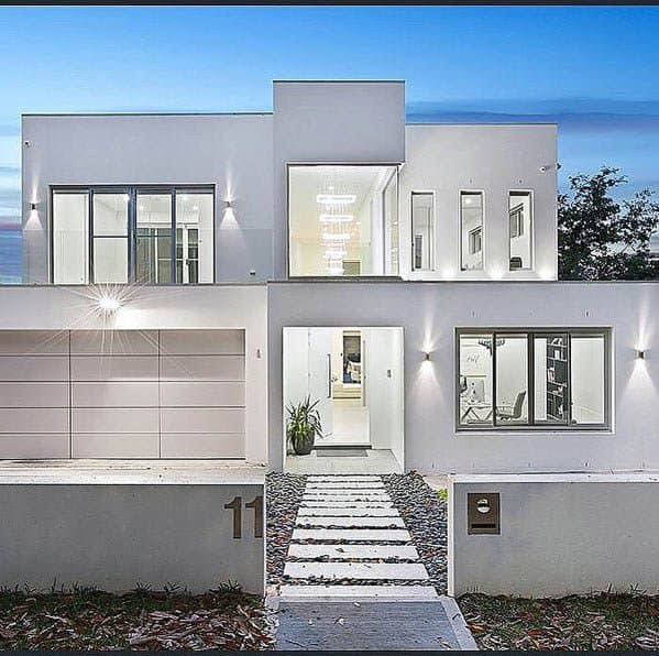 Sleek House Paint Ideas White Ultra Modern