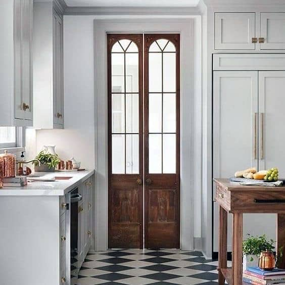 Sleek Kitchen Pantry Door Ideas
