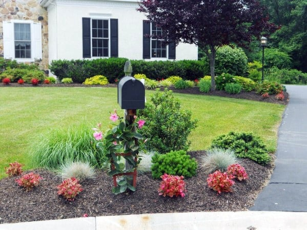 Sleek Mailbox Landscaping Ideas