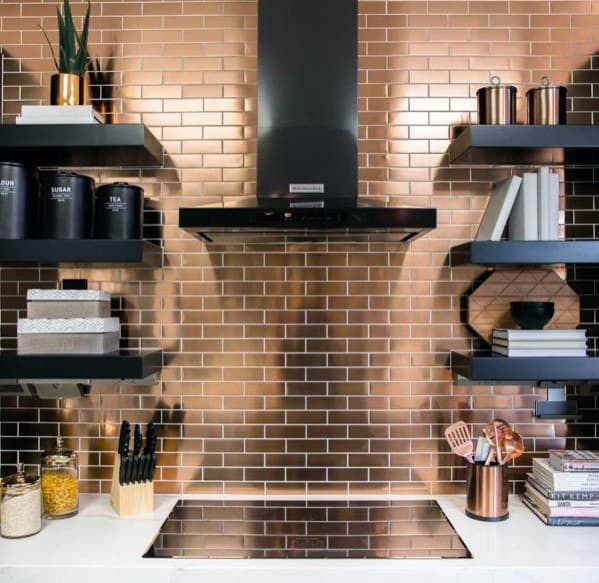 Sleek Metal Backsplash Ideas