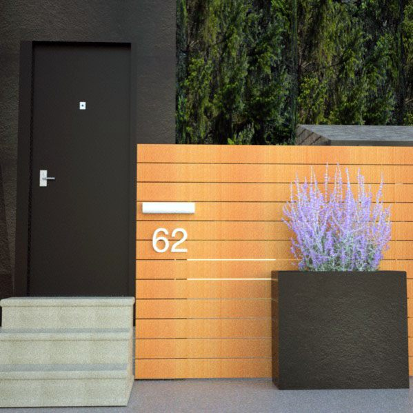 Sleek Modern Fence Ideas Front Yard