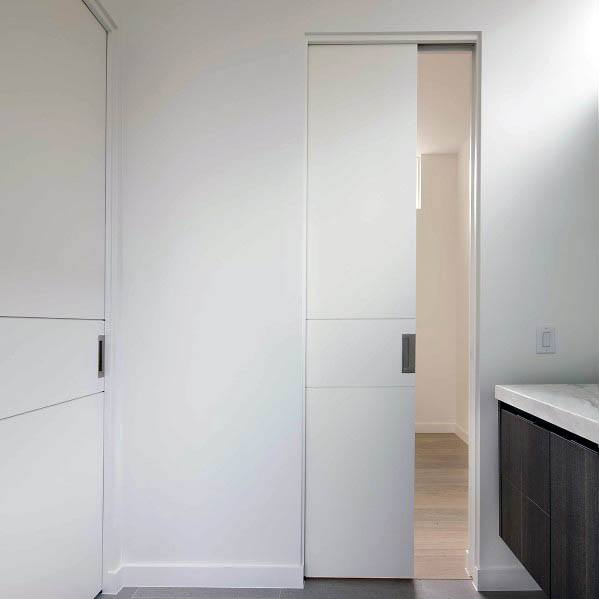 Sleek Pocket Door Ideas For Bathroom
